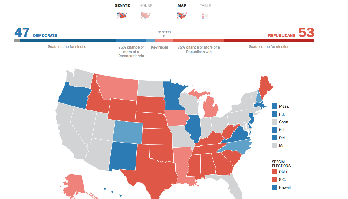 Midterm Election 2014: Data, Maps and State-by-State Results - WSJ.com