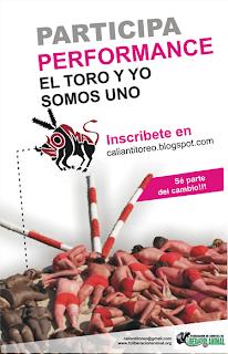 Performance: EL TORO Y YO SOMOS UNO! (Cali - Colombia)