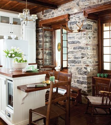 Loft amp Cottage Exposed Brick In The Kitchen