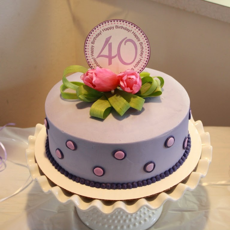 Party Cakes Lavender 40th Birthday Cake