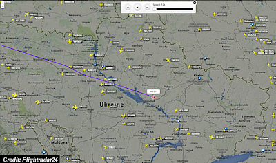 Malaysia Airlines Flight #MH17 Just Before It Disappeared Over Ukraine