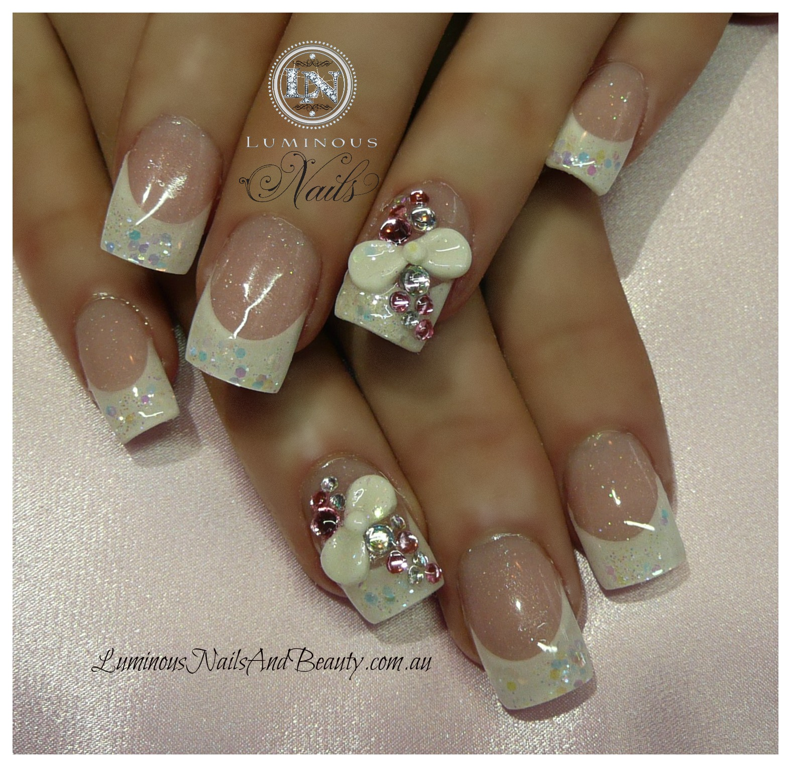 Acrylic Nail Designs With Bows