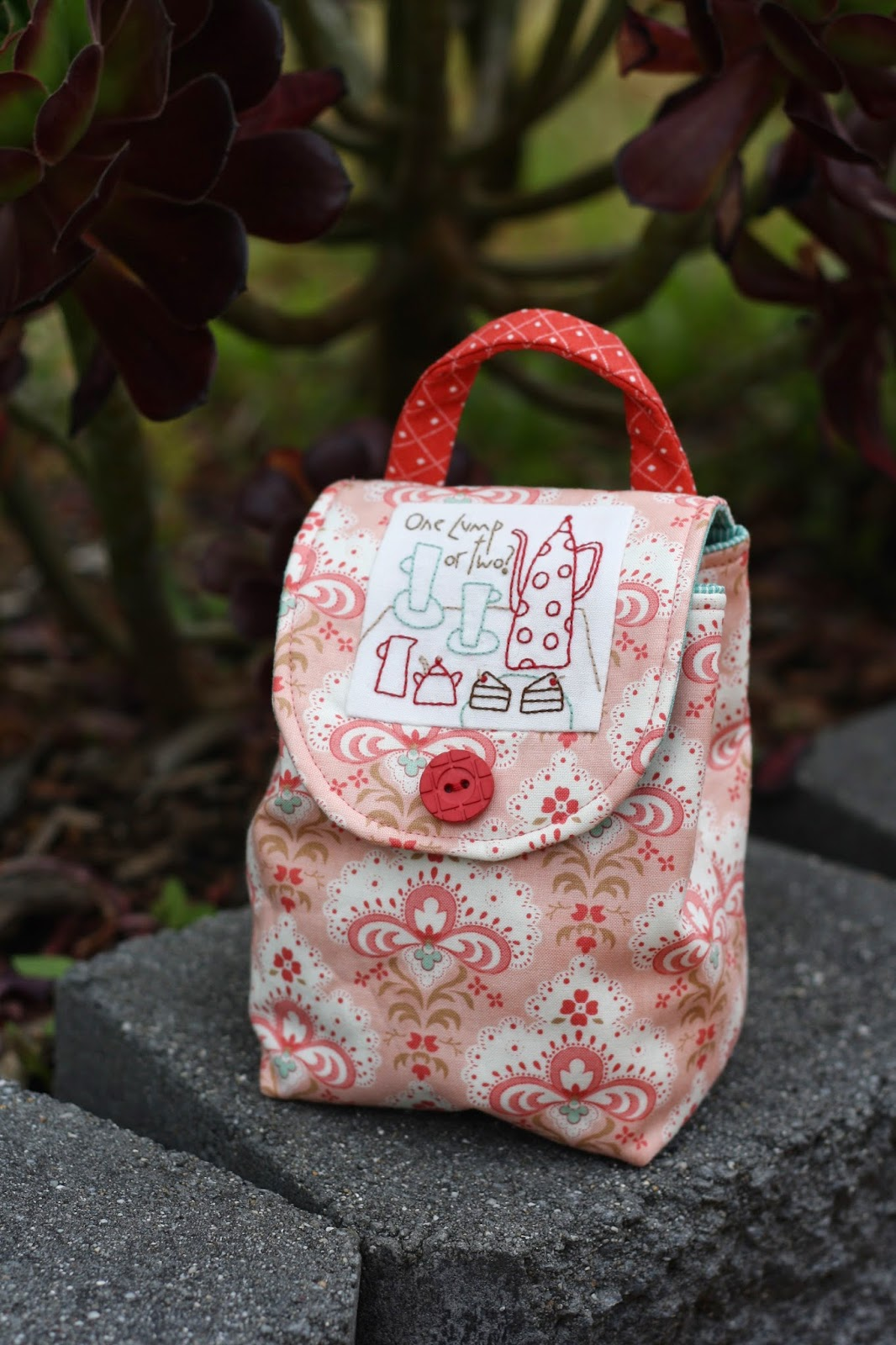 Mug Bag, designed by Anni Downs, stitched by Natasha Walter