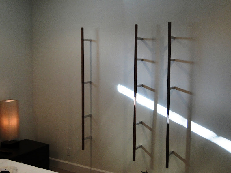 DIY Vertical Wall Shelves