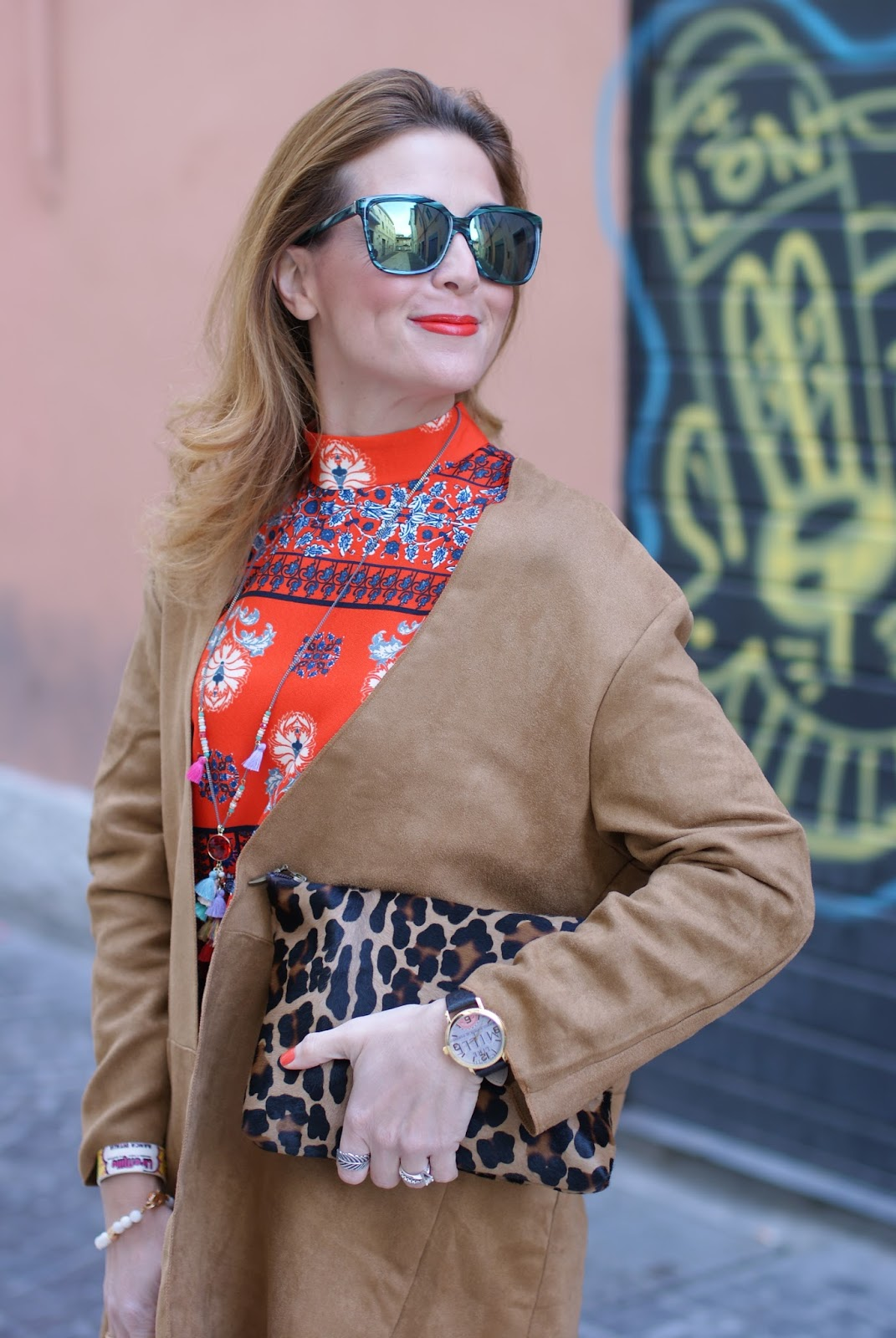 Suedette fringed coat from Yoins and Millelire watch on Fashion and Cookies fashion blog, fashion blogger style