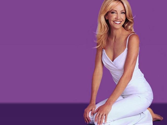 Heather Locklear sexy in white dress