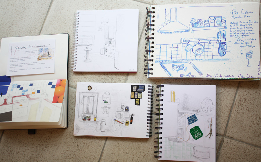 atelier petit gris dessiner dans sa cuisine. Black Bedroom Furniture Sets. Home Design Ideas