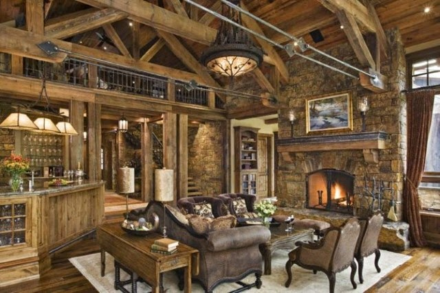 Rustic living room design pictures