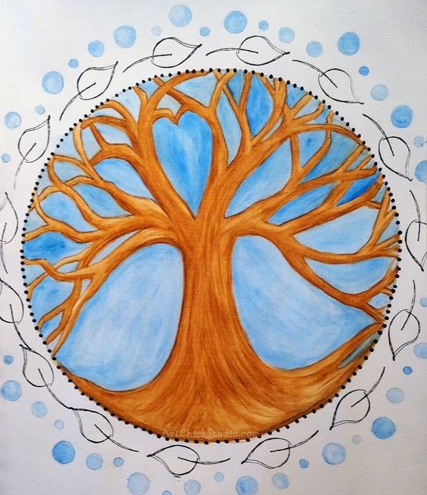 Tree Mandala Art Journal Page