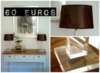 Tienda vintage online de lámparas para dormitorio y mesita de noche. Pareja de lámparas de habitación de matrimonio en metacrilato.