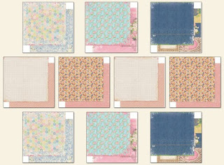 Scraps of Elegance July Home Sweet Home Kit Coordinating Papers