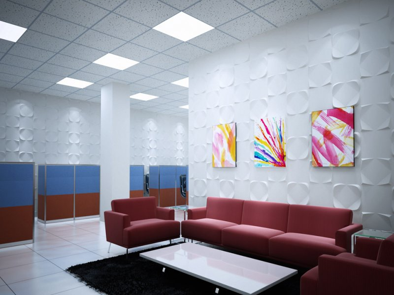 3d effect wall panelling modern doctors office