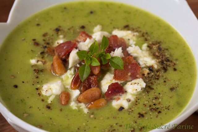 Spinach and Potato Soup - A silky smooth soup with lots of healthy veggies. A can of chick peas is the secret ingredient that adds extra protein and fiber.