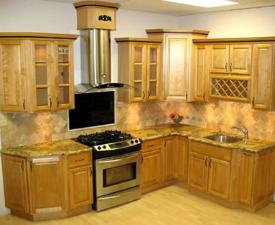 Golden Kitchen Cabinet