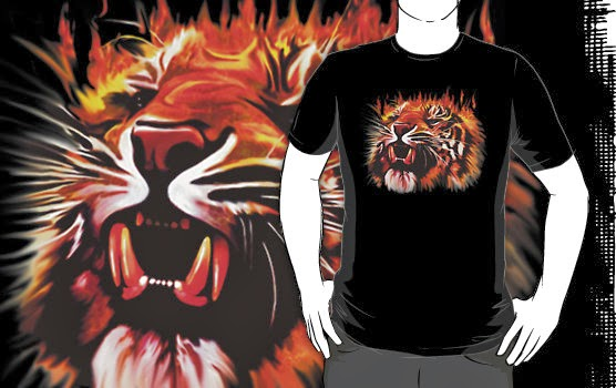 Buy this Fire Power Tiger T_Shirt on RedBubble!