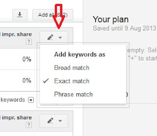 Google+Keyword+Planner+exact+match