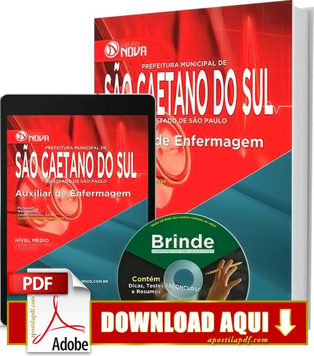Apostila Prefeitura de São Caetano do Sul 2015 Auxiliar de Enfermagem PDF Download Grátis