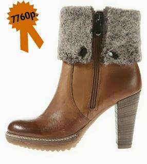 Зимняя обувь, кожаные батальоны с меховой оторочкой Madeleine