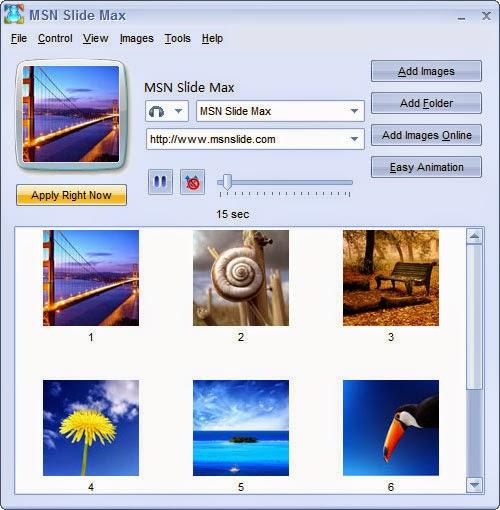 تحميل برنامج عرض الصور للويندز لايف ماسنجر MSN Slide Max 2016