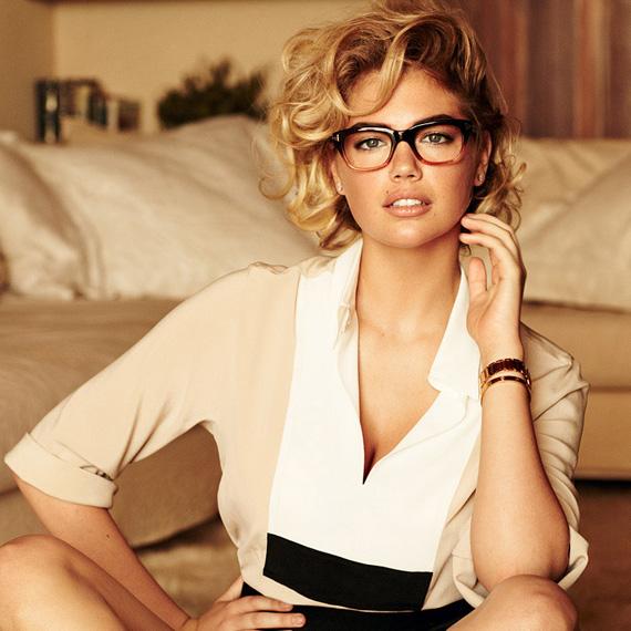 sexy Kate Upton school teacher glasses