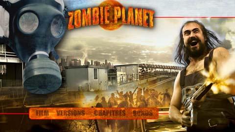 Zombie planet DVD menu