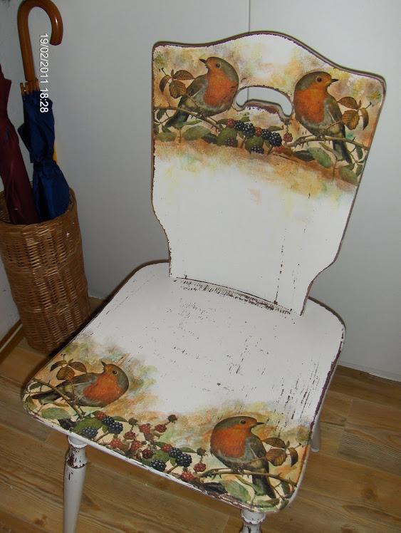 Krzesło w ptaszki fistaszki