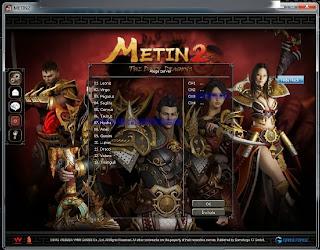 metin2 pvp server oyununa giriş yapma paneli