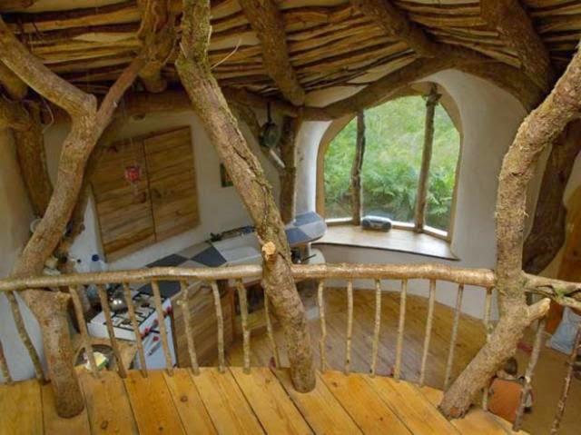 casa hobbit de simon dale vista interior