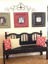 Distressed black bench-Sold