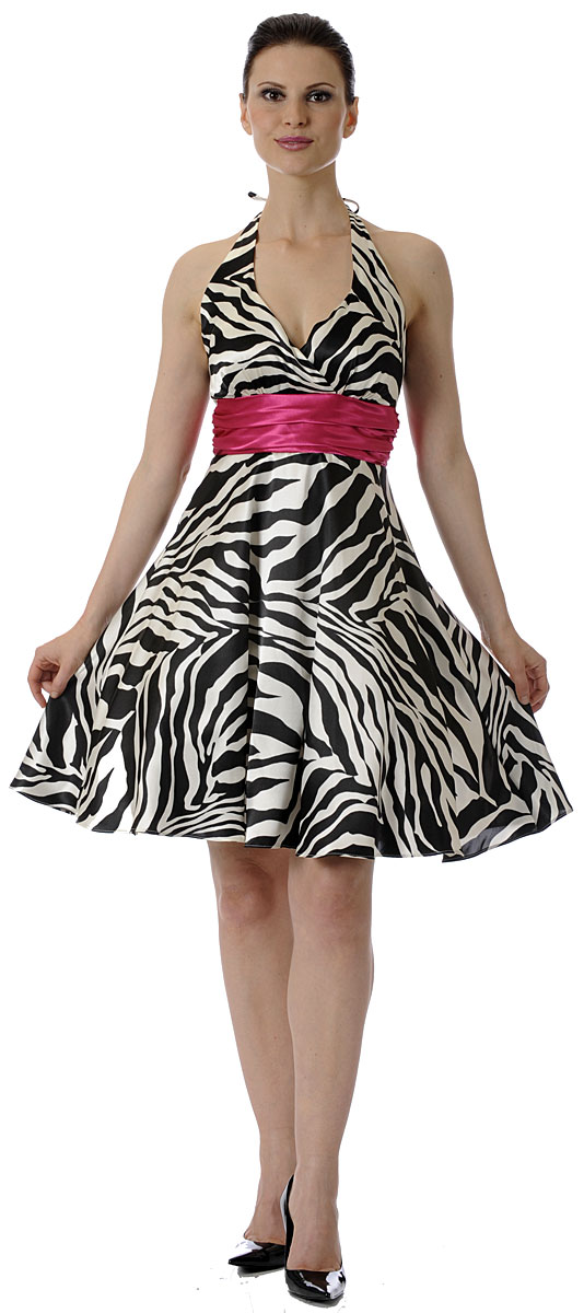 Zebra Short Prom Dresses 96