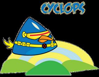 Ciclope Superheroes estilo Angry Birds