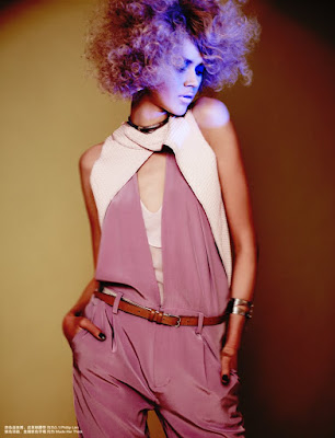 pink and purple afro, pink fashion, fashion and beauty photographer london