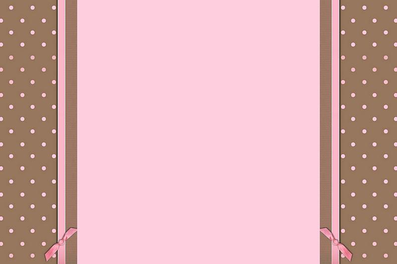 Sabor Colorido: Marrom e Rosa - Kit Completo com molduras para ...