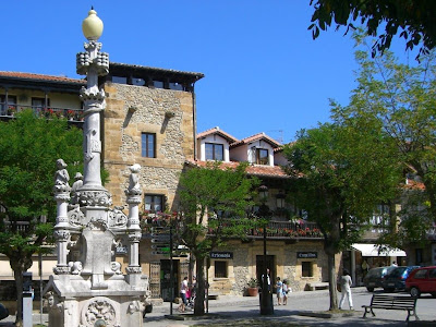 Modernist fountain in Comillas