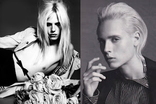 Martin Cohn and the blond Andrej Pejic