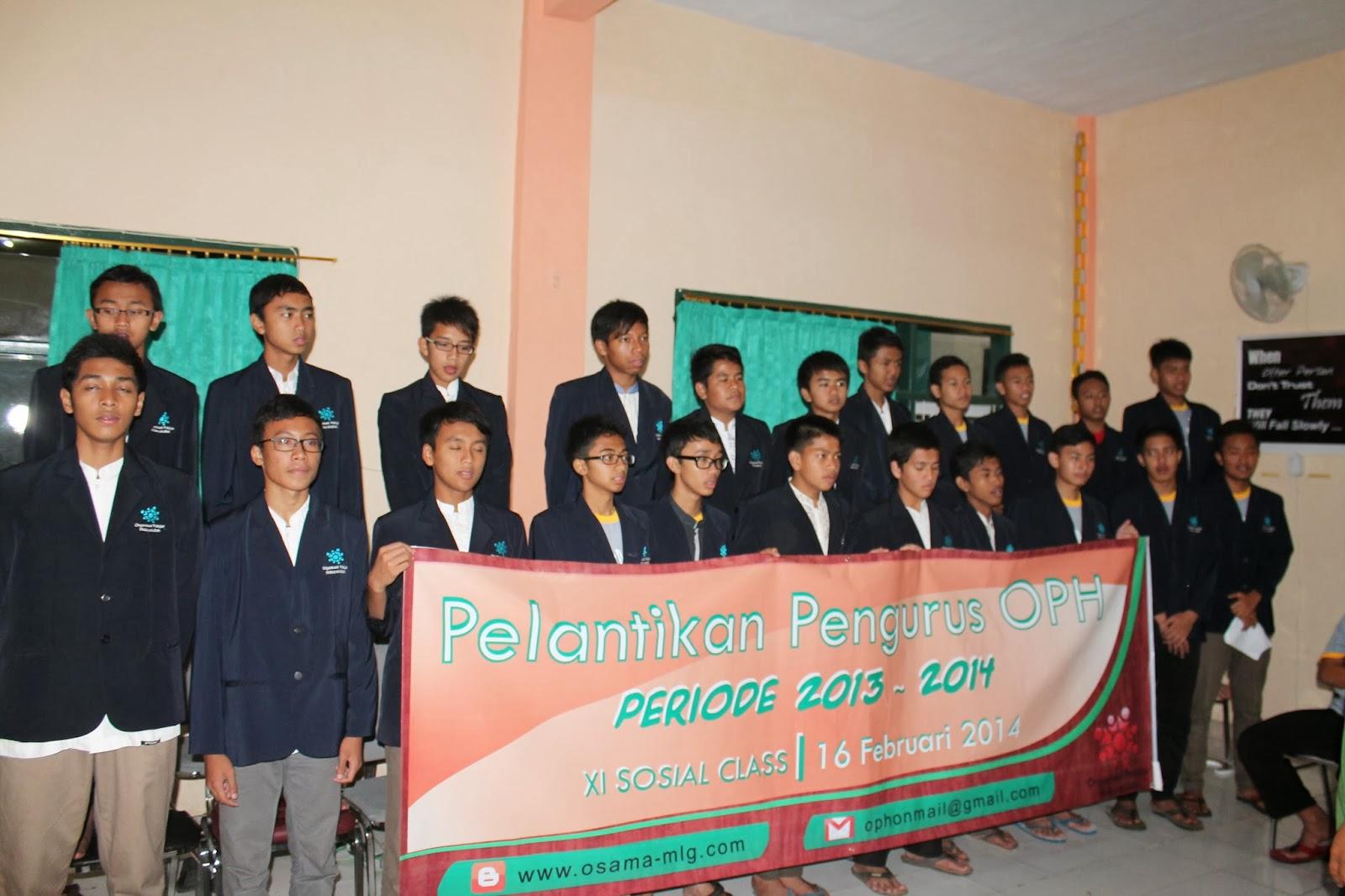 Pelantikan Anggota Baru OPH SMA Ar-Rohmah Th. Angkatan 2013-2014