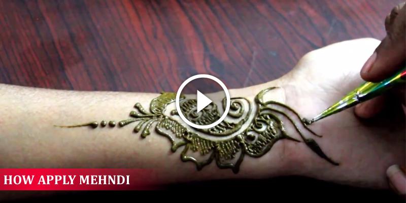 Beautiful Mehndi Design Tutorial : How apply beautiful mehndi designs on hands full