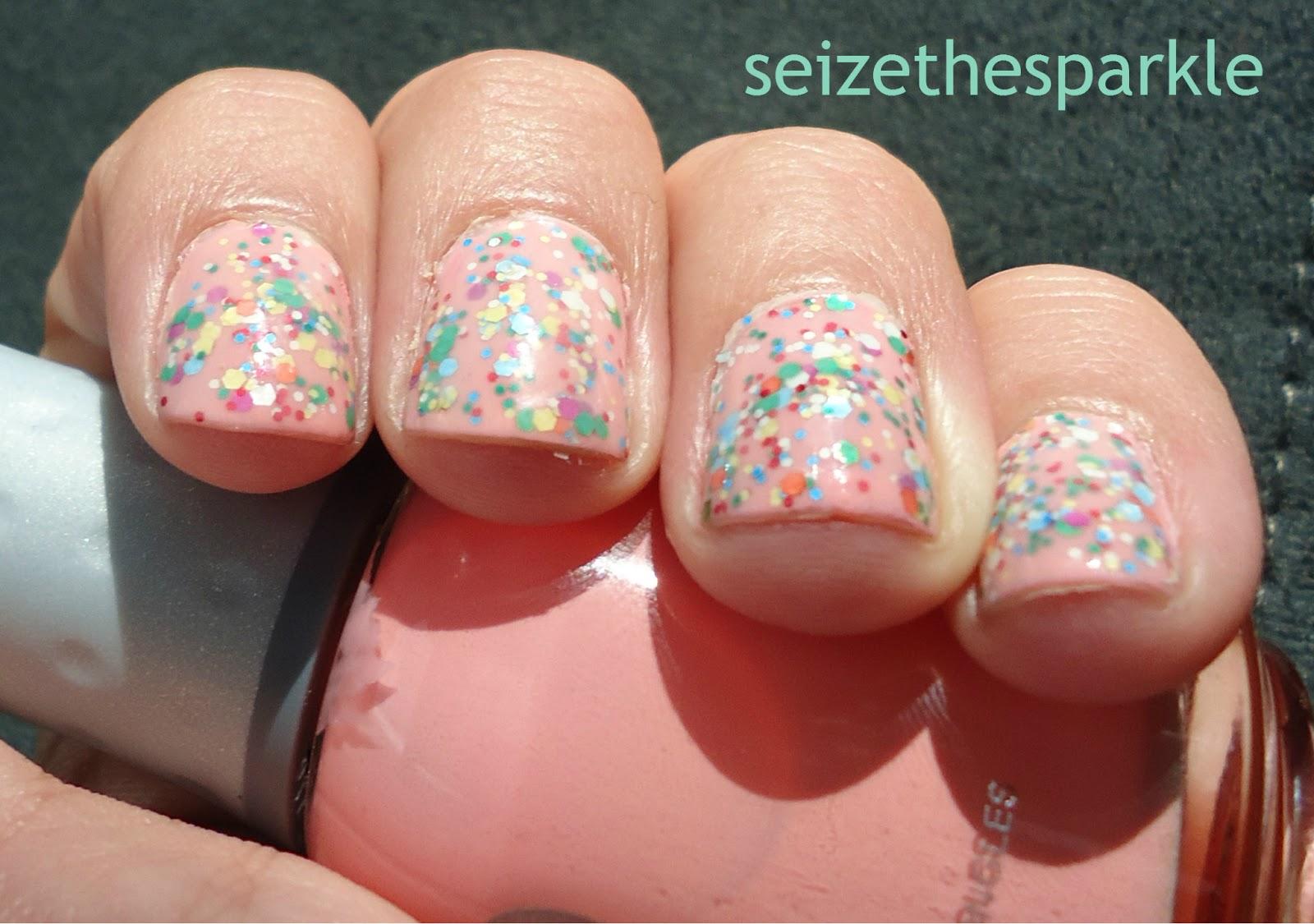 Pink Cupcake Glitter Sandwich