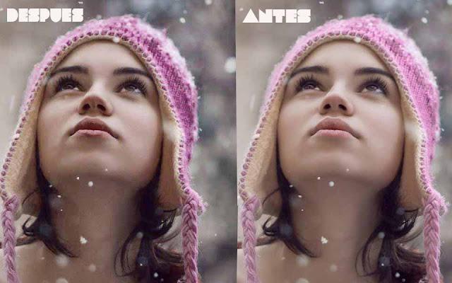 Action para photoshop que matiza colores y elimina brillos