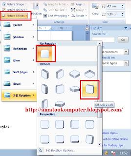 Cara Mengatur gambar dengan Picture Styles, Cara Menyisipkan gambar, Cara edit gambar di word, microsoft word 2007, word 2007, tips komputer, tips word 1