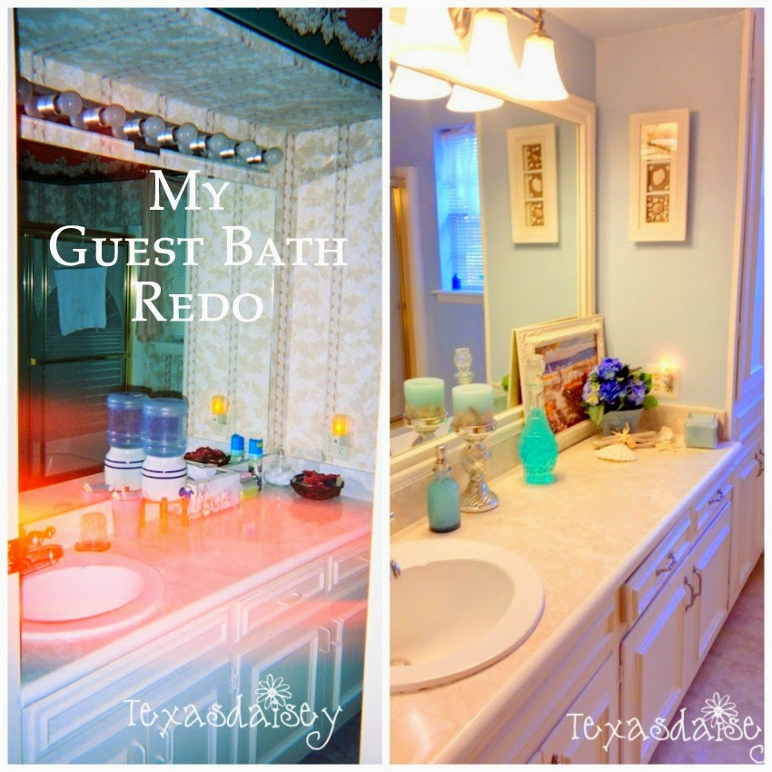 My Guest Bath Redo before and after