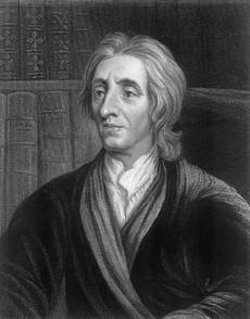 Where did John Locke write his beliefs concerning the capital punishment?