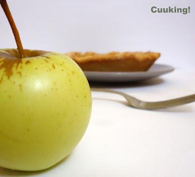 Pie tarta de manzana y toffe
