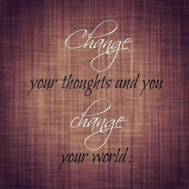 Change your thoughts and you change your world. Free Printable.