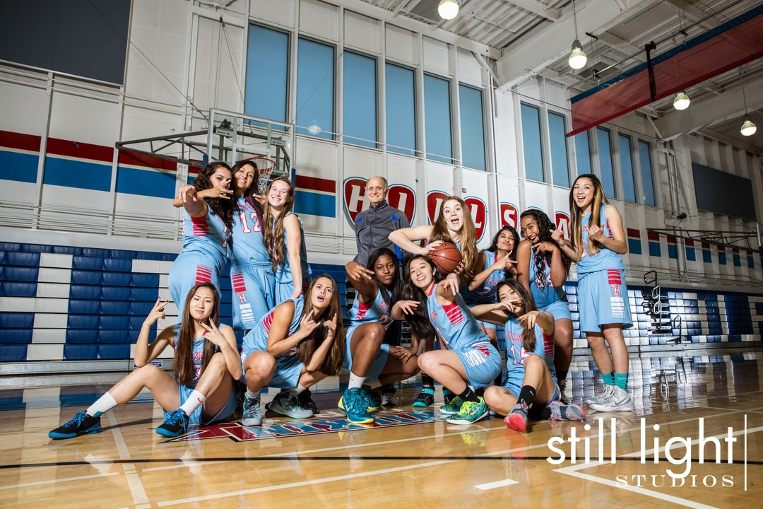 San Mateo Hillsdale High School Girls Basketball Team Photo by Still Light Studios, School Sports Photography and Senior Portrait in Bay Area, cinematic, nature