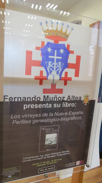 """Presentación del libro """"Los virreyes de la Nueva España. Perfiles genealógico-biográficos"""" de Fernando Muñoz"""