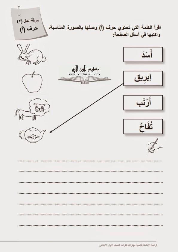 اوراق عمل (124 ورقة) لتنمية واتقان مهارات القراءة و الكتابة للصف الاول الابتدائى  - صفحة 2 2