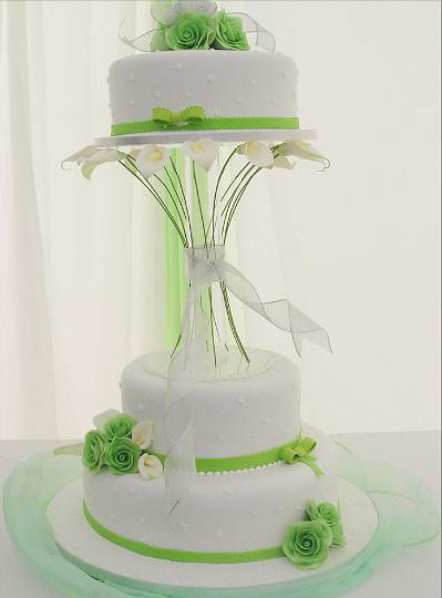 Green Wedding Cakes Wedding Decorations