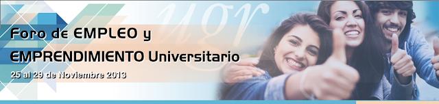 FORO DE EMPLEO Y EMPRENDIMIENTO UNIVERSITARIO