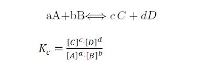 Equilibrio químico constantes concentraciones Kc